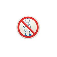 No Kids Allowed Mini Button
