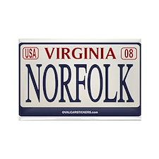 Norfolk License Plate Rectangle Magnet