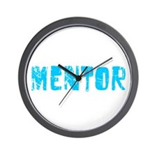 Mentor Faded (Blue) Wall Clock