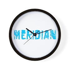 Meridian Faded (Blue) Wall Clock