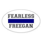 Fearless Freegan Oval Sticker (10 pk)