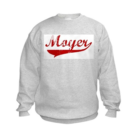Moyer (red vintage) Kids Sweatshirt