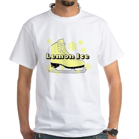 Lemon Ice Skate White T-Shirt