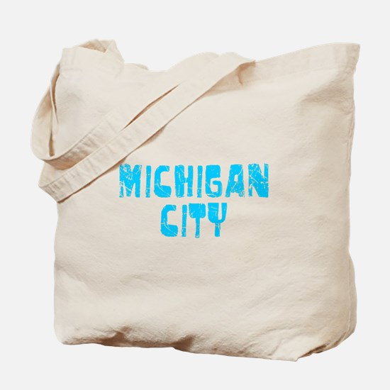 Michigan City Faded (Blue) Tote Bag
