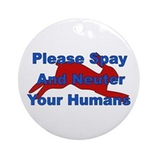 Overpopulation Bombs Ornament (Round)