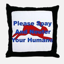 Overpopulation Bombs Throw Pillow