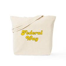 Retro Federal Way (Gold) Tote Bag