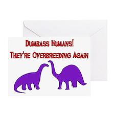 Overbreeding Dinosaurs Greeting Card