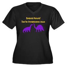 Overbreeding Dinosaurs Women's Plus Size V-Neck Da