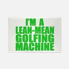 Lean-Mean Golfing Machine Rectangle Magnet