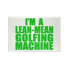 Lean-Mean Golfing Machine Rectangle Magnet (10 pac