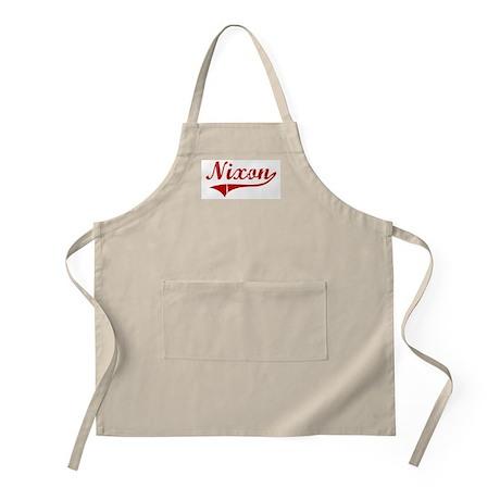 Nixon (red vintage) BBQ Apron