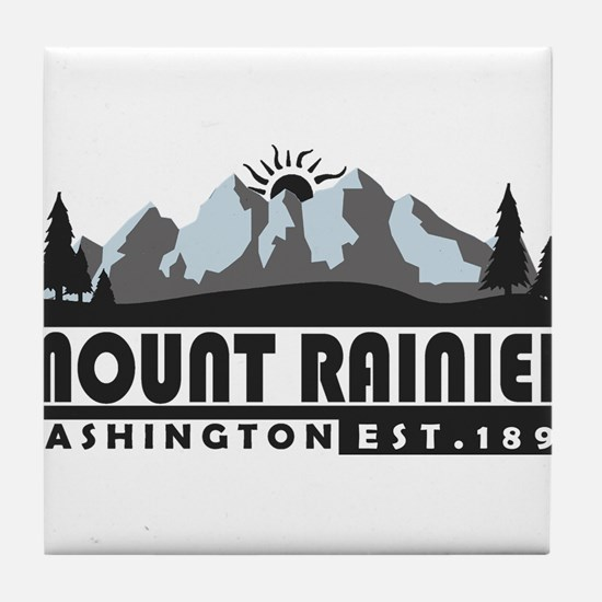 Mount Rainier - Washington Tile Coaster