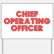Retro Chief Opera.. (Red) Yard Sign