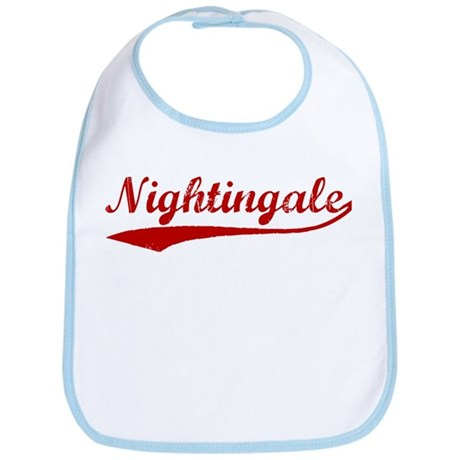 Nightingale (red vintage) Bib