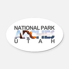 Arches - Utah Oval Car Magnet