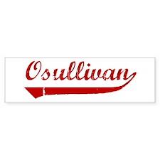 Osullivan (red vintage) Bumper Bumper Sticker