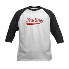 Paulino (red vintage) Kids Baseball Jersey