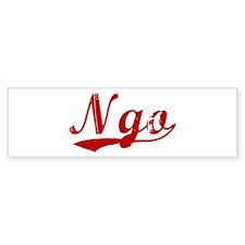 Ngo (red vintage) Bumper Sticker (10 pk)