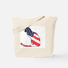 Patriotic Cat Tote Bag