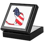 Patriotic Cat Keepsake Box