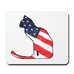 Patriotic Cat Mousepad