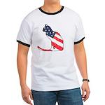 Patriotic Cat Ringer T