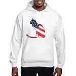 Patriotic Cat Hooded Sweatshirt