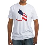 Patriotic Cat Fitted T-Shirt