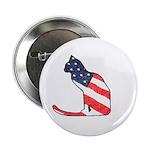 Patriotic Cat Button