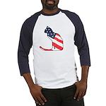 Patriotic Cat Baseball Jersey