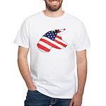 Patriotic Dog White T-Shirt