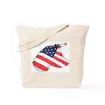 Patriotic Dog Tote Bag