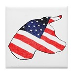 Patriotic Dog Tile Coaster
