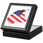 Patriotic Dog Keepsake Box