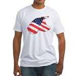 Patriotic Dog Fitted T-Shirt