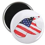 Patriotic Dog Magnet