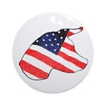 Patriotic Dog Keepsake (Round)