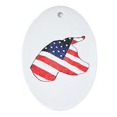 Patriotic Dog Keepsake (Oval)