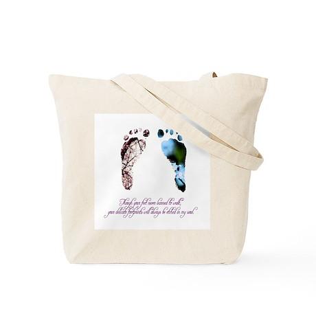 Pink & Blue Feet Tote Bag
