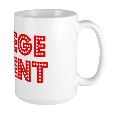 Retro College Stu.. (Red) Large Mug