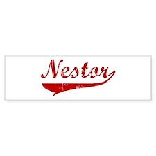Nestor (red vintage) Bumper Bumper Sticker