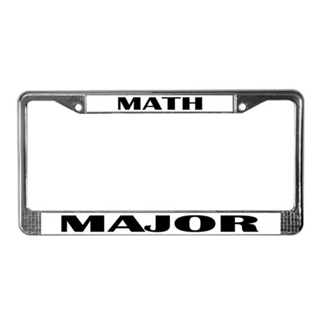 Math Major License Plate Frame