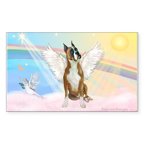 Angel / Boxer Sticker (Rectangle)