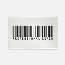 Professional Coach Barcode Rectangle Magnet