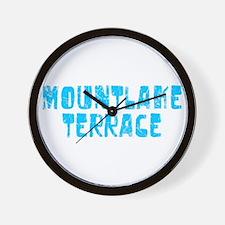 Mountlake Te.. Faded (Blue) Wall Clock