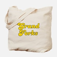 Retro Grand Forks (Gold) Tote Bag