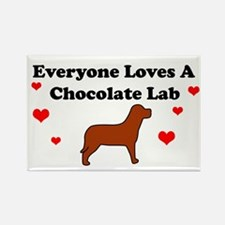 Everyone Loves Chocolate Lab Rectangle Magnet