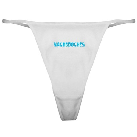 Nacogdoches Faded (Blue) Classic Thong