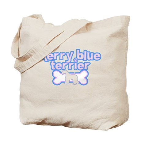 Powderpuff Kerry Blue Terrier Tote Bag
